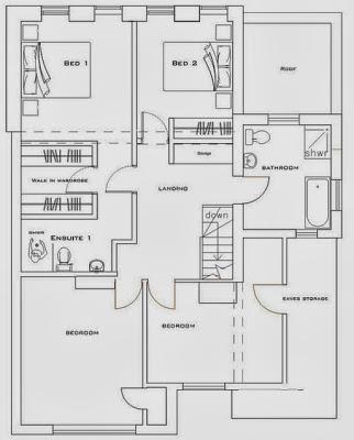 Plano de segundo piso en  ampliación de casa