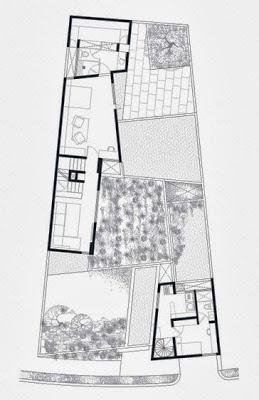 Plano segunda planta terreno irregular