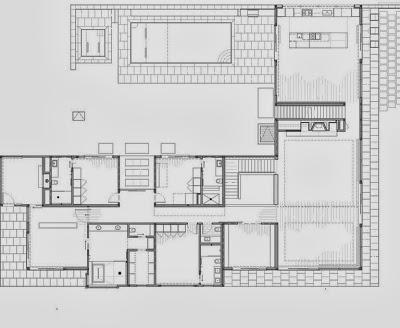 Plano del segundo nivel de la casa apropiada para la nieve