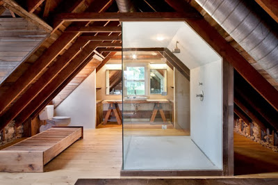 Remodelación de atico en casa rústica