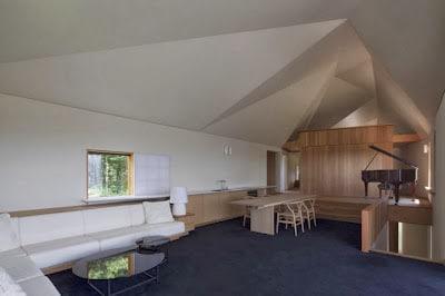 Diseño de interiores de poliedros en casa oriental