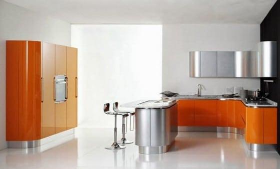 Barra de cocina metalica