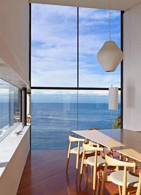 Diseño de comedor de casa moderna