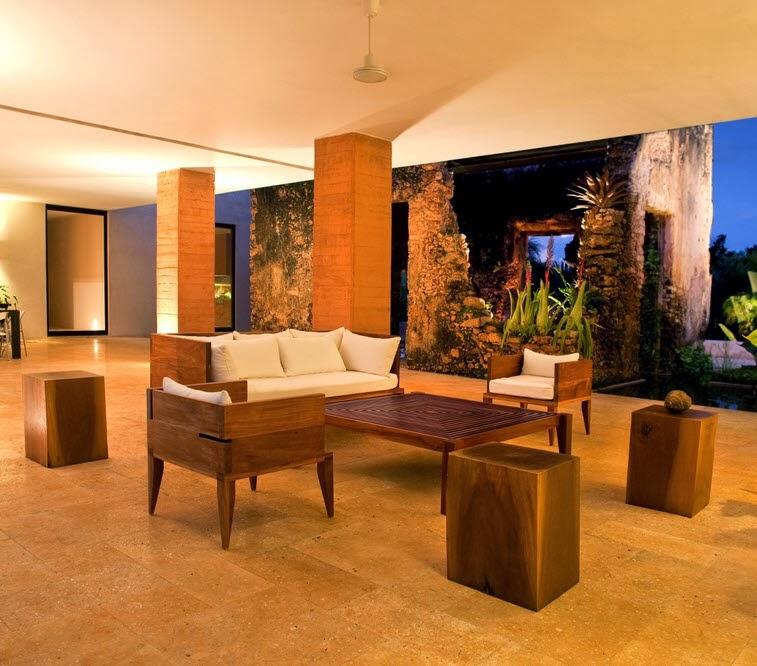 Dise o de moderna casa hacienda fachada y dise o de for Ver interiores de casas modernas