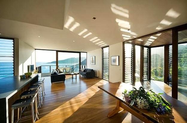 diseño de casa en forma de árbol de dos pisos, pisos flotantes