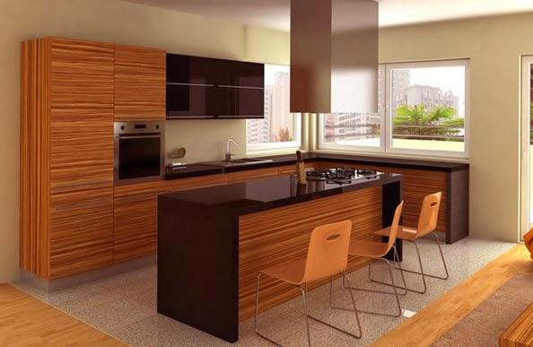 40 dise os de islas de cocina consigue inspirarte con for Elemento de cocina negro