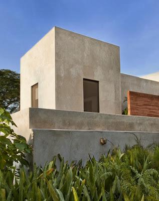 Modulo en forma de cubo de casa hacienda