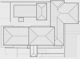 Planos del techo de la casa en la montaña