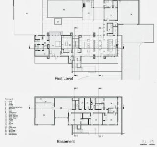 Planos de moderna casa en la montaña
