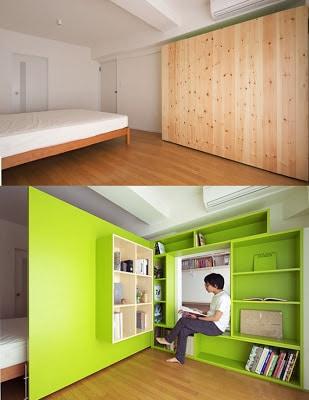 Separador de ambiente crea dos habitaciones en una