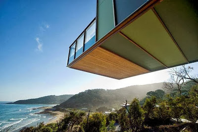 Volumen de la casa volado con vista al mar