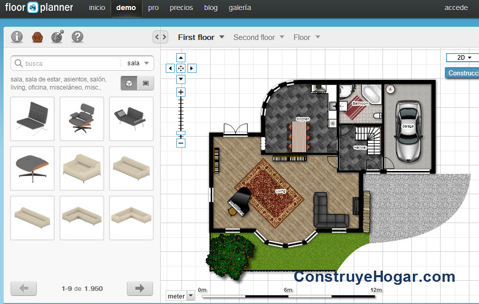 Aplicaciones para hacer planos de casas online construye for Hacer planos 3d