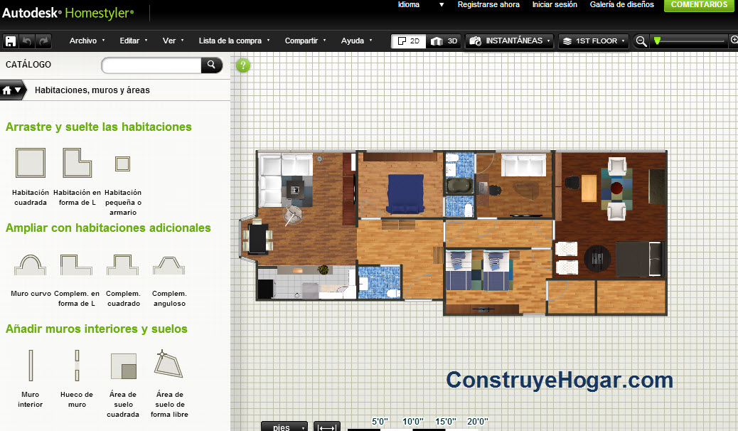 aplicaciones para hacer planos de casas online construye