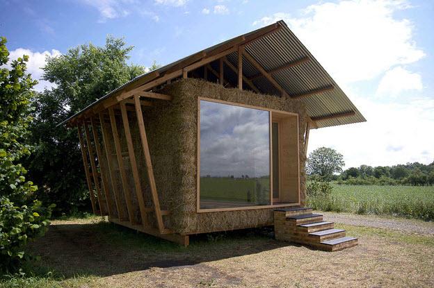 Diseo De Casa Hecha Paja Construccin Vivienda
