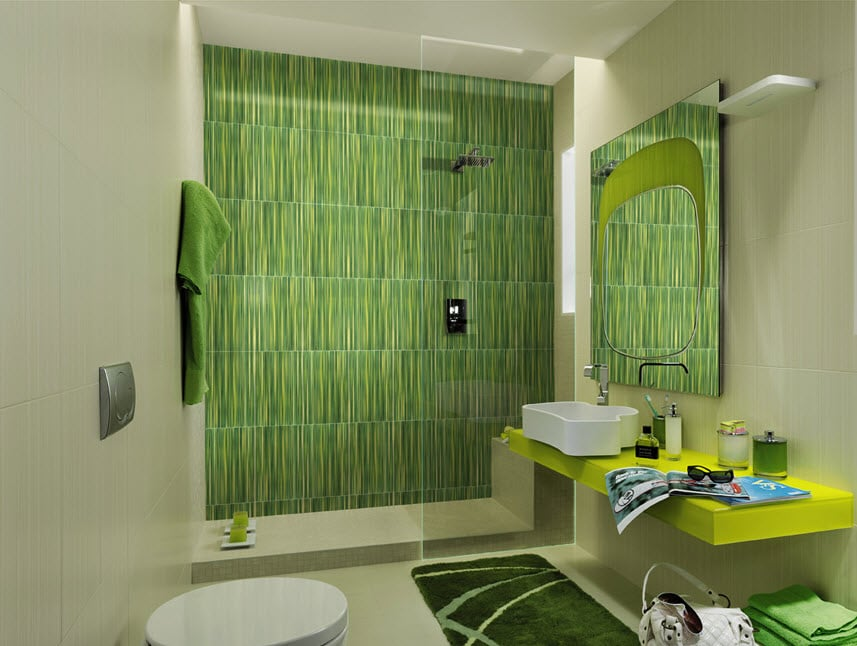 Cer mica para cuartos de ba o modelos dise os y colores for Enchape banos pequenos