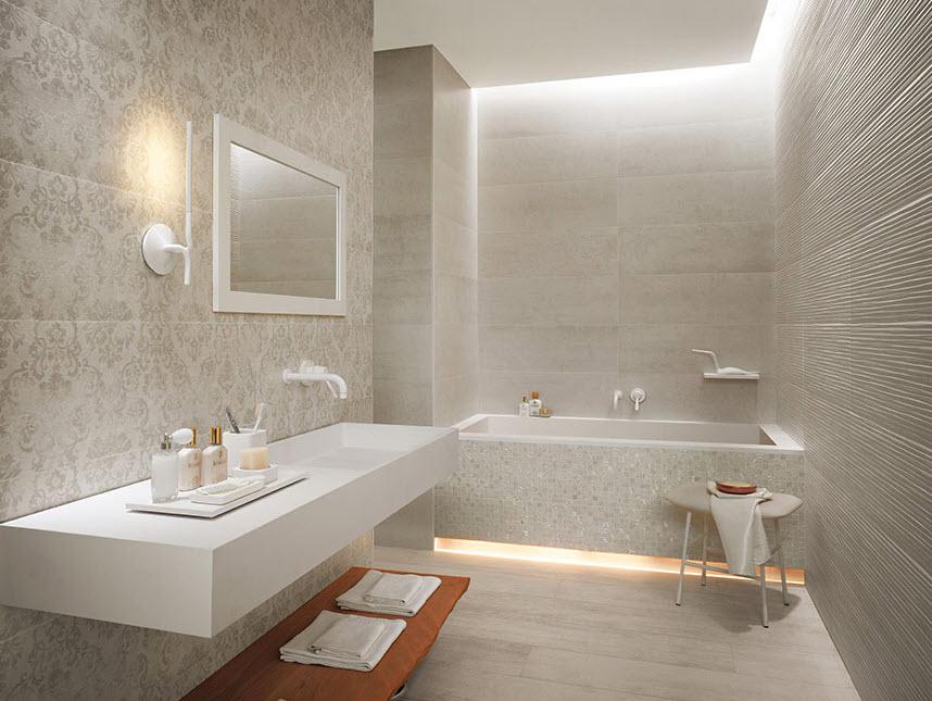 Cerámica de cuarto de baño con diseño papel tapiz