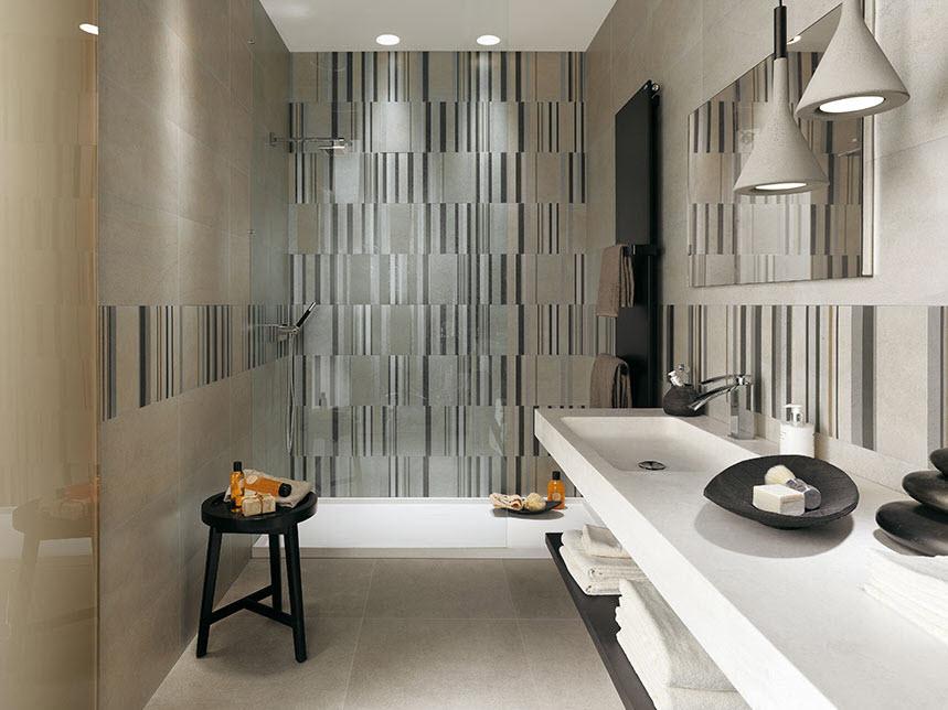 Cerámica para cuarto de baño de lineas verticales