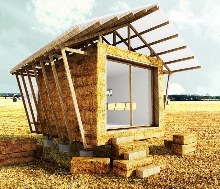 Dise o de casa hecha de paja construcci n de vivienda for Viviendas pequenas