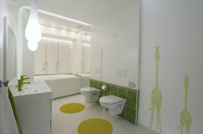 Cuarto de baño de niños moderno diseño