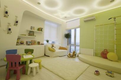 Decoración de interiores dormitorio  de niños moderno