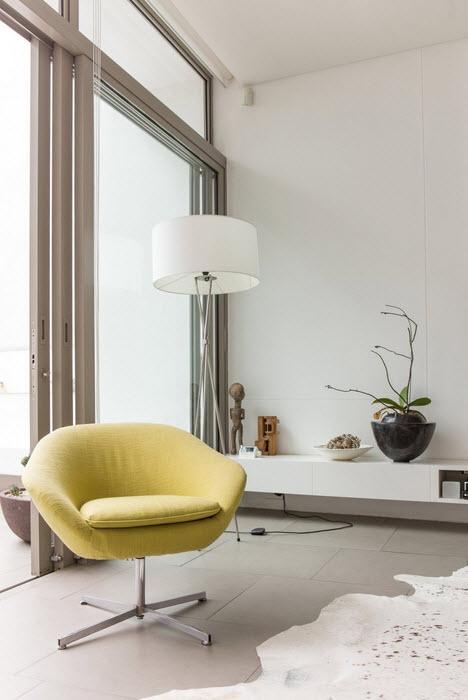 Detalle de mueble color verde en decoración de interiores