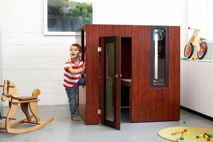 Diseño de casa para niños de madera