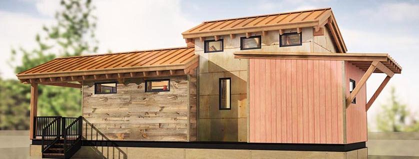 Diseño de casa pequeña dos pisos habitaciones