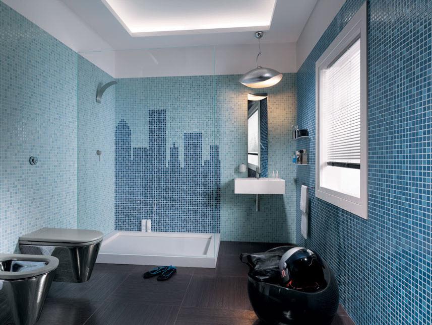 Cer mica para cuartos de ba o modelos dise os y colores for Banos azules y grises