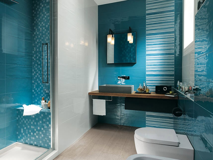 Cer mica para cuartos de ba o modelos dise os y colores - Laminas para cuartos de bano ...