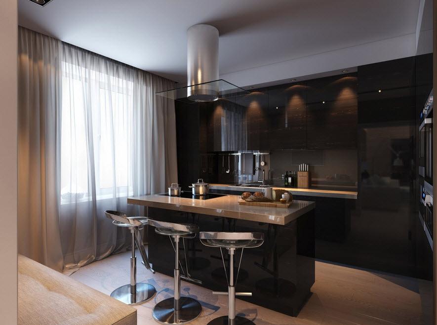 Cocinas con contraste dise os y fotos para inspirarte for Cocina con azulejos blancos