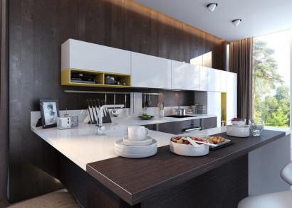 Diseño de cocina con contraste 2