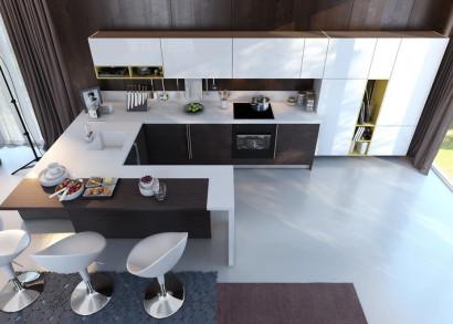 Diseño de cocina con contraste