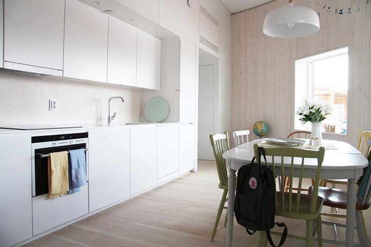 Diseño de cocina de casa pasiva