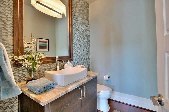 Moderno diseño de cuarto de baño 28