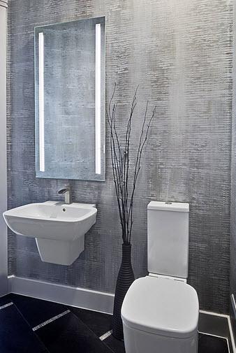 Dise o de cuarto de ba o peque os y medianos construye hogar for Cuarto de bano gris