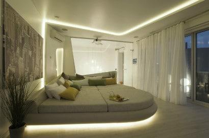 Diseño de dormitorio futurista