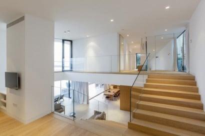 Diseño de interiores casa de playa- vista desnivel