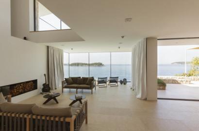 Diseño de interiores de casa de playa- Sala