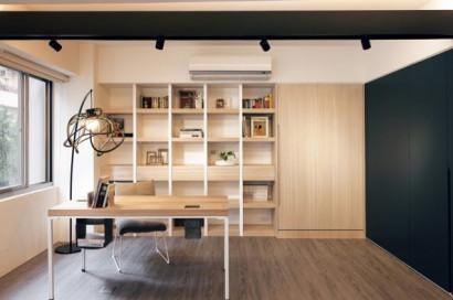 Diseño de mini apartamento, con cama plegada a la pared