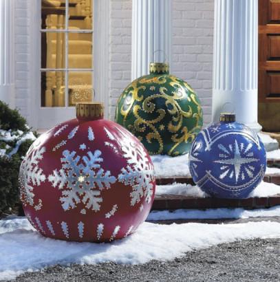 Exteriores de casa decoradas por navidad