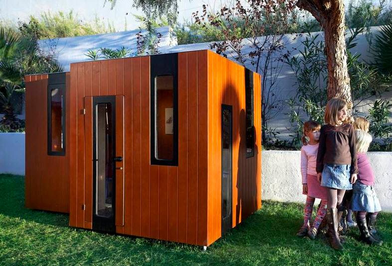 Fachada de casa especial para niños