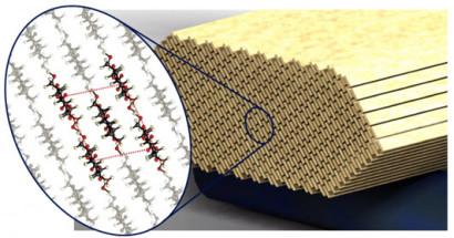 Imagen del material de construcción del futuro hecho de Nanocristales de celulosa