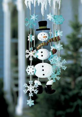 Muneco de nieve para decorar por navidad