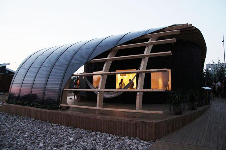 Dise o de casa pasiva halo que funciona con energ a solar - Techos modulares ...