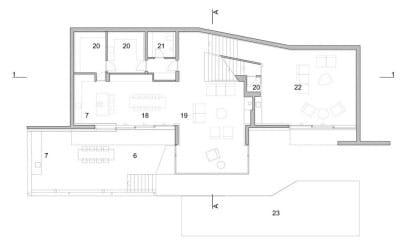 Plano de casa de playa- primer piso