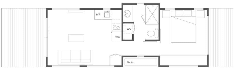 Plano de casa pequeña 3
