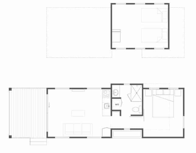 Planos de casas pequeña dos pisos