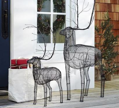 Renos de metal para decoración