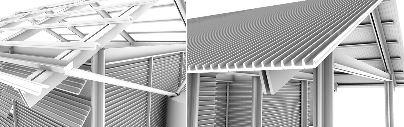 Casa hecha de pl sticos reciclados de vertederos for Tipos de techos