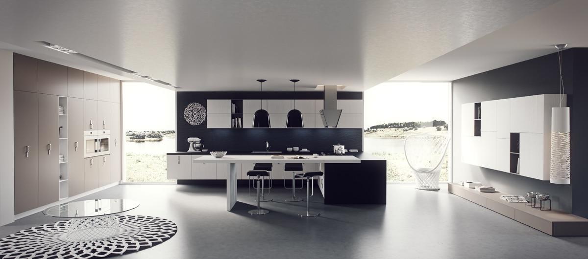 Dise o de cocinas modernas iluminaci n de interiores for Cocinas grandes modernas